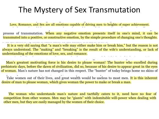 Sexual transmutation for women
