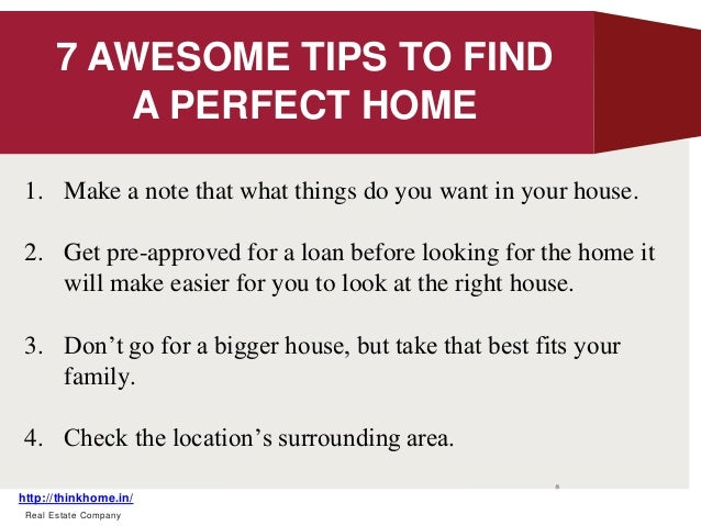 Tips to find your dream home