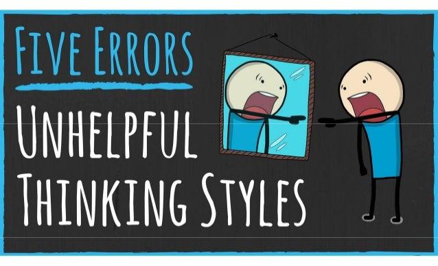 Five Thinking Errors Sabotaging Your Brain