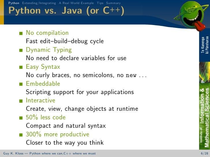 Thinking Hybrid - Python/C++ Integration
