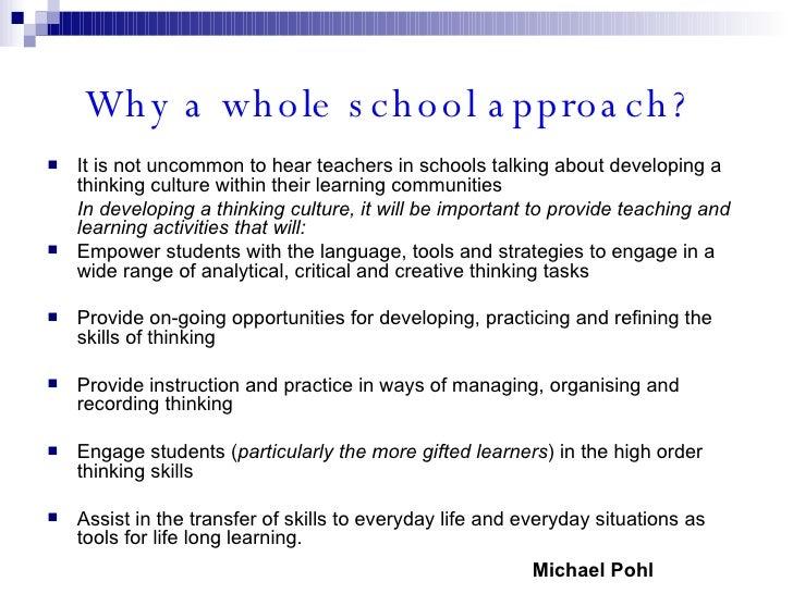 Thinking Skills Presentation Slide 3