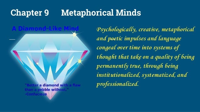 Chapter 9 Metaphorical Minds Psychologically, creative, metaphorical and poetic impulses and language congeal over time in...