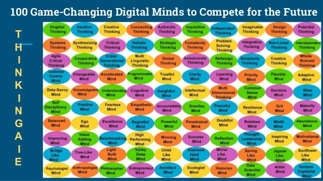 100 Game-Changing Digital Minds to Compete for the Future T H I N K I N G A I E