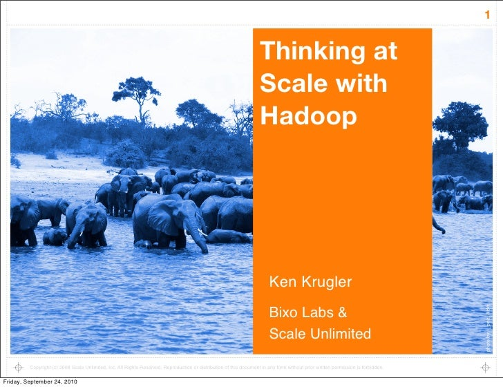 Thinking at scale with hadoop