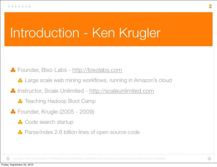 Thinking at scale with hadoop Slide 2