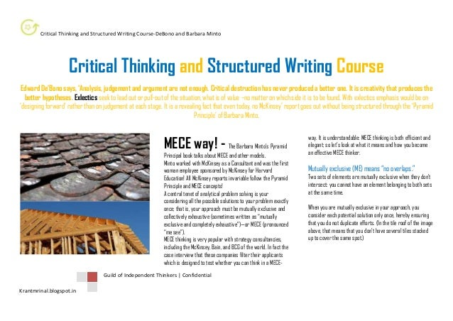 critical thinking and writing course description Phl 1010, critical thinking 1 course description introduces the art of devising ways to improve the quality of learning and life by systematically improving the thinking that.