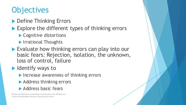 Thinking Errors Understanding And Addressing Them To Improve Recovery