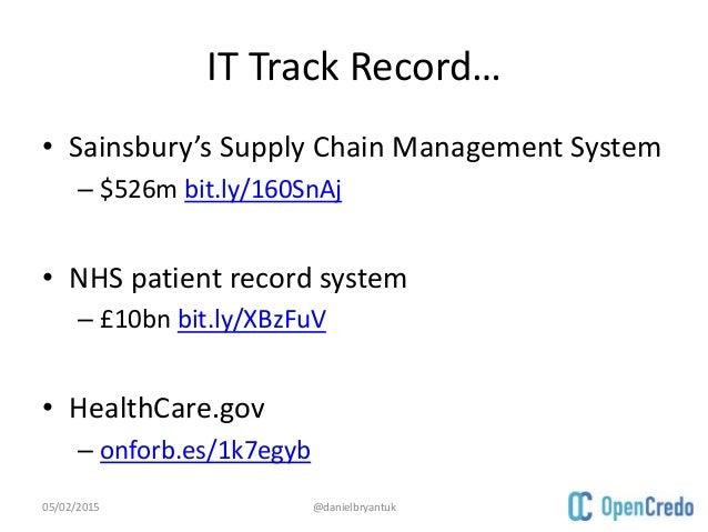 Sainsburys supply chain management