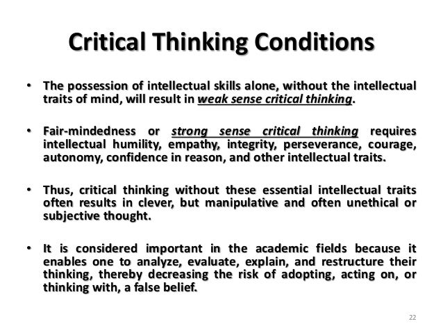 weak sense critical thinkers Weak sense critical thinking is you by on september 13, 2018 in uncategorized i'm spending my halloween writing an essay and studying i love life  what are .
