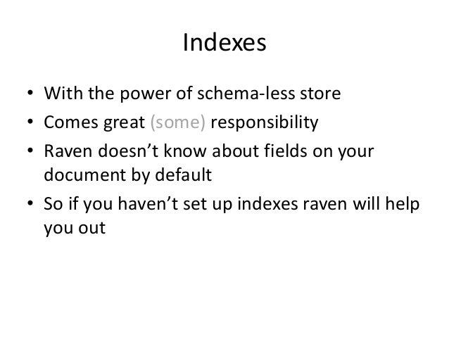 Indexes • Extend Abstract Index Creation Task