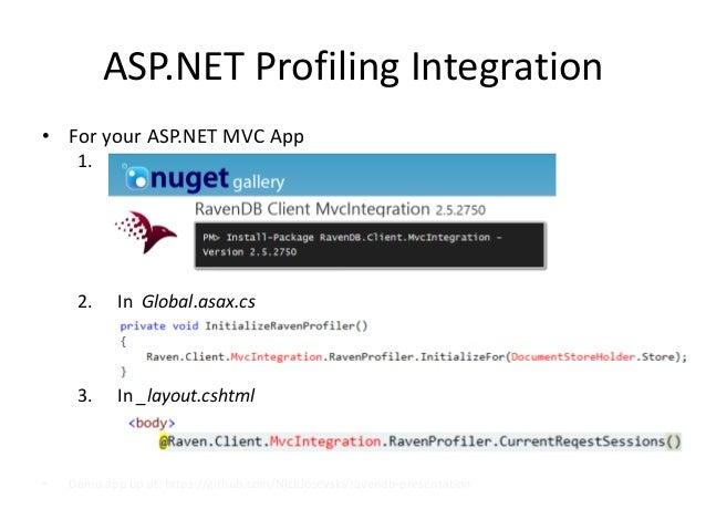 ASP.NET Profiling Integration