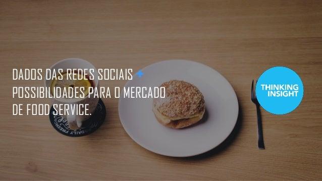 DADOS DAS REDES SOCIAIS + POSSIBILIDADES PARA O MERCADO DE FOOD SERVICE.