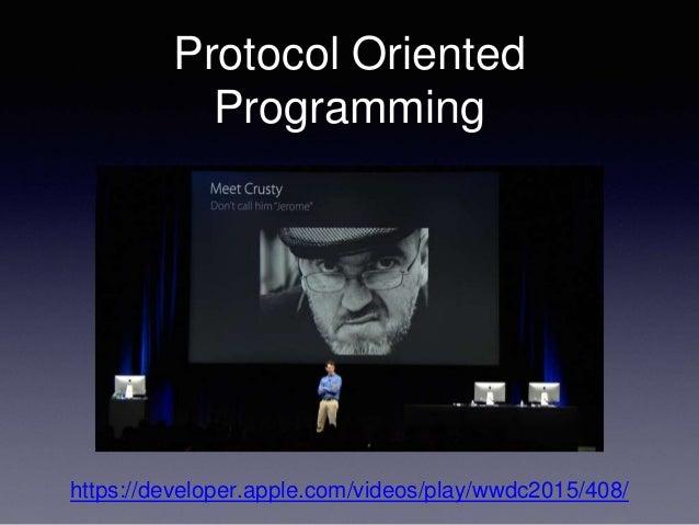 Protocol Oriented Programming https://developer.apple.com/videos/play/wwdc2015/408/