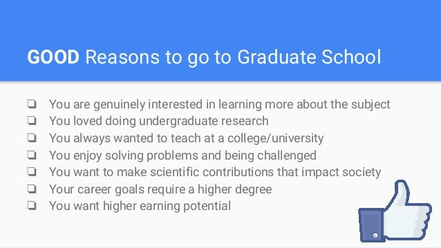 Thinking of going to graduate school