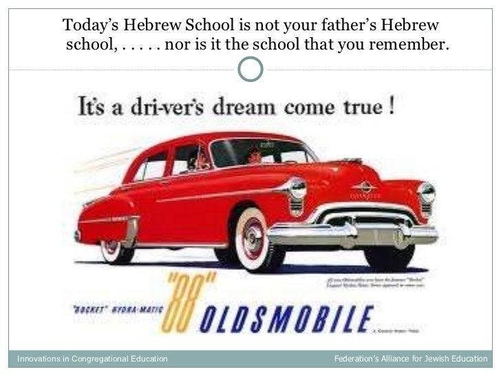 <ul><li>Today's Hebrew School is not your father's Hebrew school, . . . . . nor is it the school that you remember. </li><...