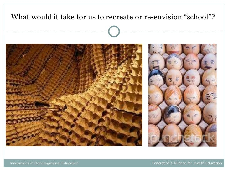"""<ul><li>What would it take for us to recreate or re-envision """"school""""?  </li></ul>Innovations in Congregational Education ..."""