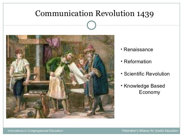 <ul><li>Communication Revolution 1439 </li></ul>Innovations in Congregational Education  Federation's Alliance for Jewish ...