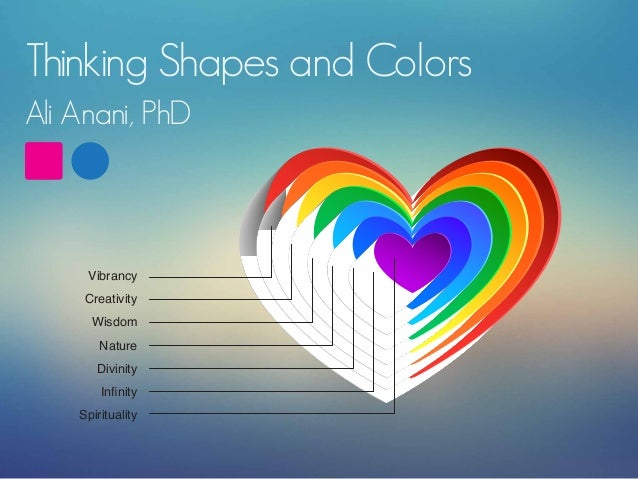 Thinking Shapes and Colors Ali Anani, PhD  Vibrancy Creativity Wisdom Nature Divinity Infinity Spirituality