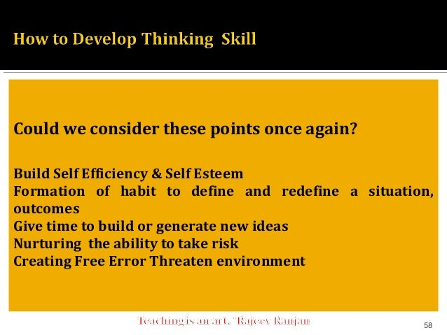 how to develop thinking skills in students