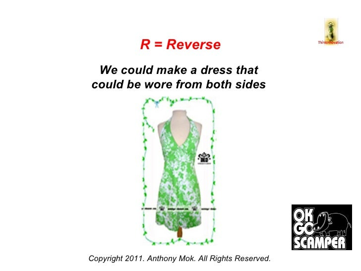 Copyright 2011. Anthony Mok. All Rights Reserved. R = Reverse We could make a dress that  could be wore from both sides