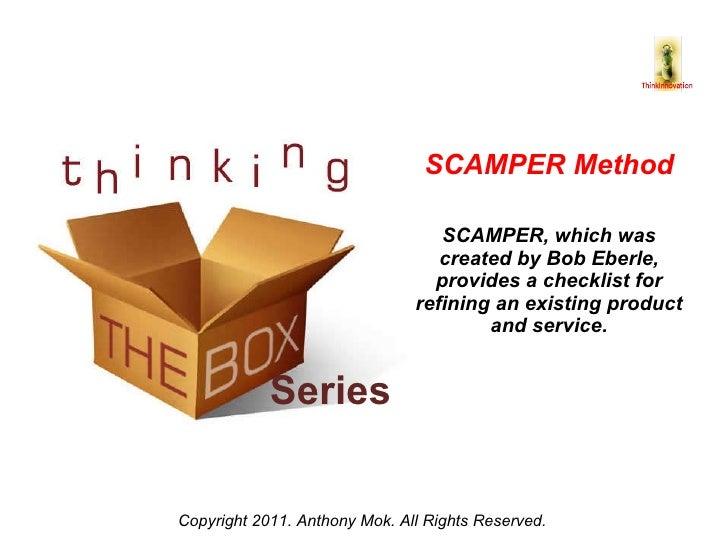 Think innovation issue 4   share - scamper Slide 3