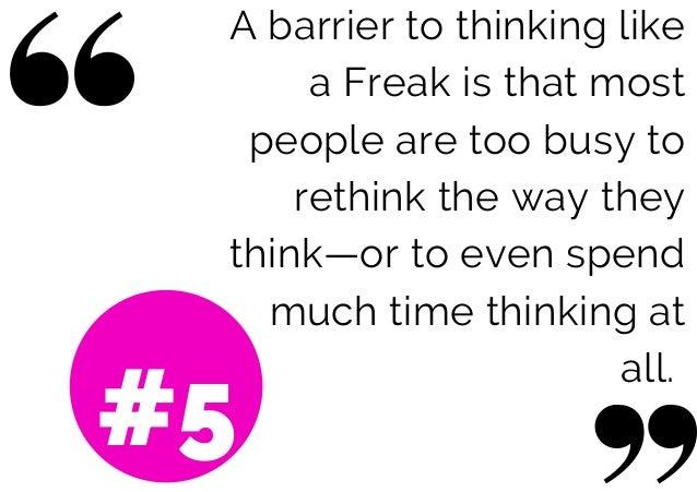 how to talk like a freak