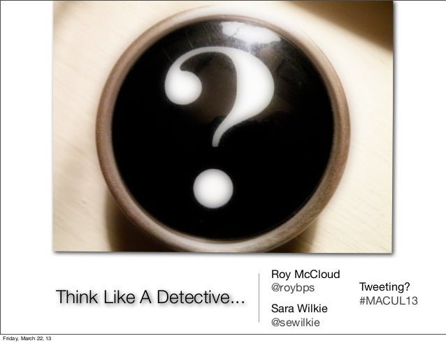 Roy McCloud                                                   @roybps       Tweeting?                       Think Like A D...