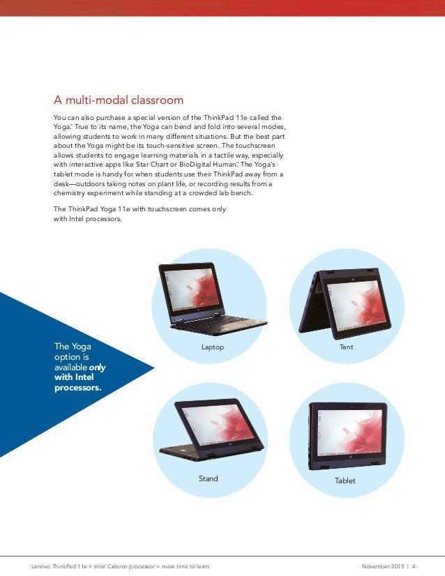 Lenovo ThinkPad 11e + Intel Celeron processor = more time to learn