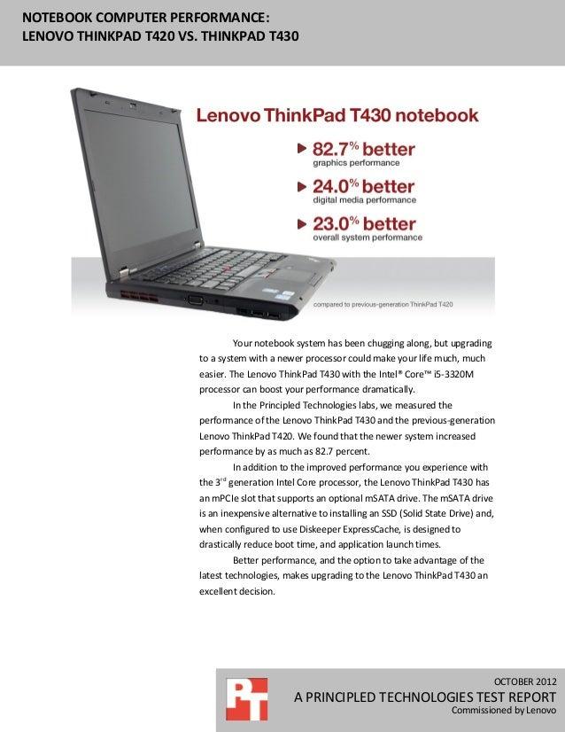 Notebook computer performance: Lenovo ThinkPad T420 vs