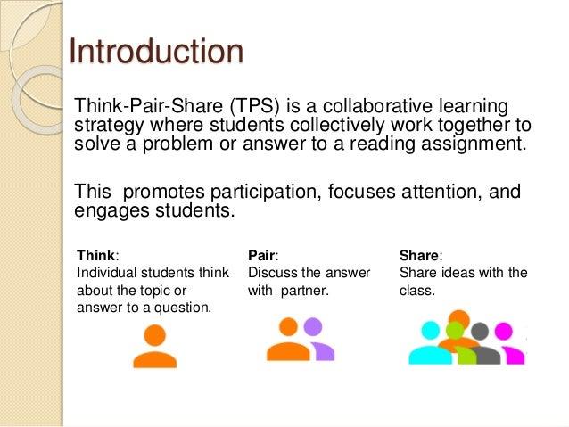Collaborative Teaching Strategies ~ Think pair share ppt edwf