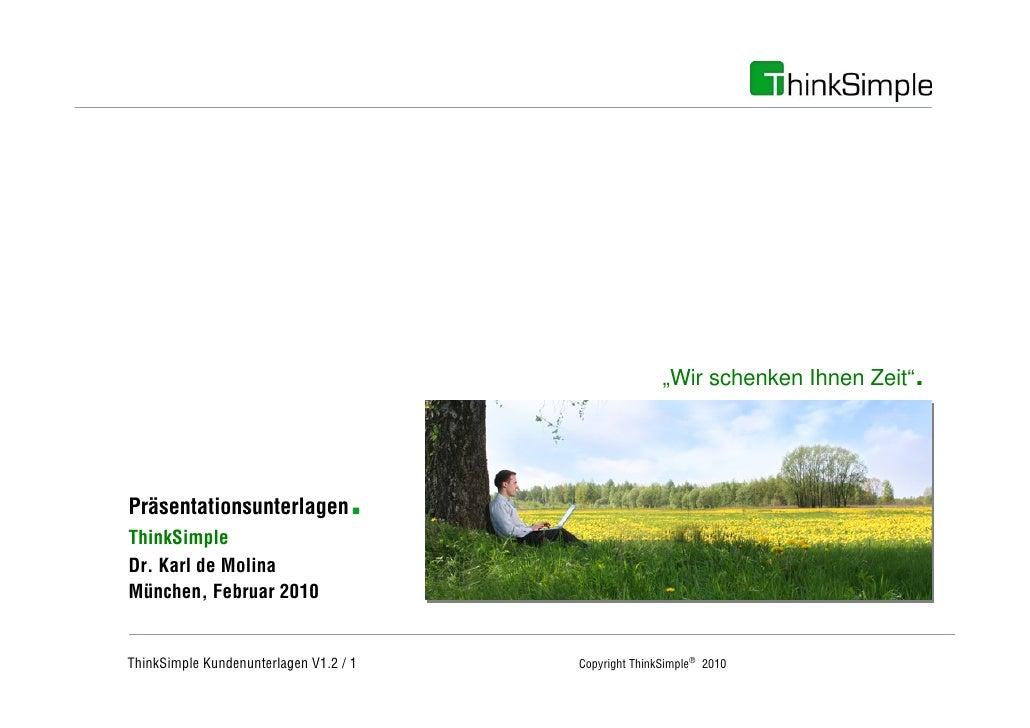 """Unternehmenskonzept                                                            """"Wir schenken Ihnen Zeit""""   .   Präsentatio..."""