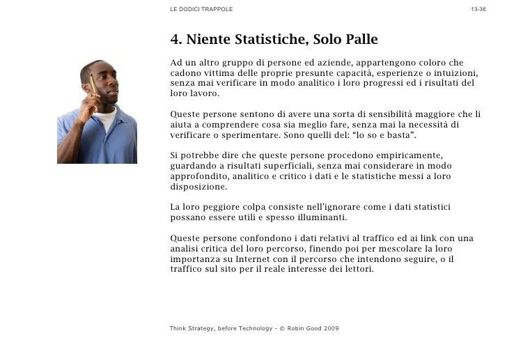 LE DODICI TRAPPOLE                                                       13-36     4. Niente Statistiche, Solo Palle Ad un...