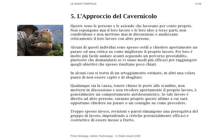 LE DODICI TRAPPOLE                                                           14-36     5. L'Approccio del Cavernicolo Ques...