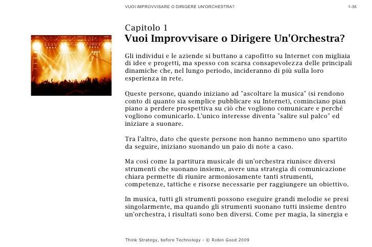 VUOI IMPROVVISARE O DIRIGERE UN'ORCHESTRA?                              1-36     Capitolo 1 Vuoi Improvvisare o Dirigere U...