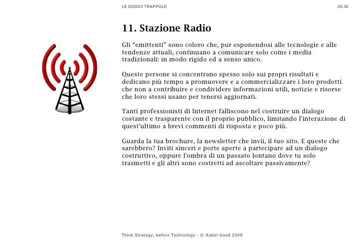 """LE DODICI TRAPPOLE                                                        20-36     11. Stazione Radio Gli """"emittenti"""" son..."""
