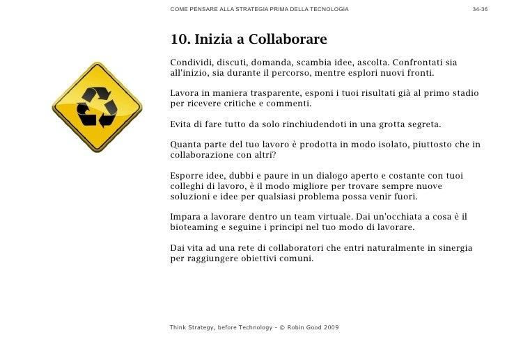 COME PENSARE ALLA STRATEGIA PRIMA DELLA TECNOLOGIA                         34-36     10. Inizia a Collaborare Condividi, d...