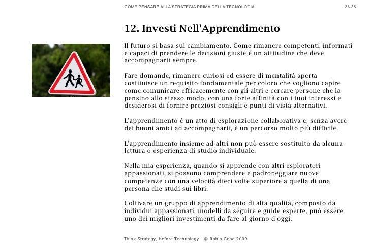 COME PENSARE ALLA STRATEGIA PRIMA DELLA TECNOLOGIA                        36-36     12. Investi Nell'Apprendimento Il futu...