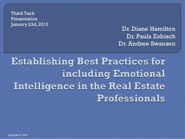 Dr. Diane Hamilton Dr. Paula Zobisch Dr. Andree Swanson Think Tank Presentation January 23d, 2015 Copyright © 2015