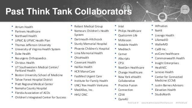 Think Tank VI Overview & Best Practices Slide 3