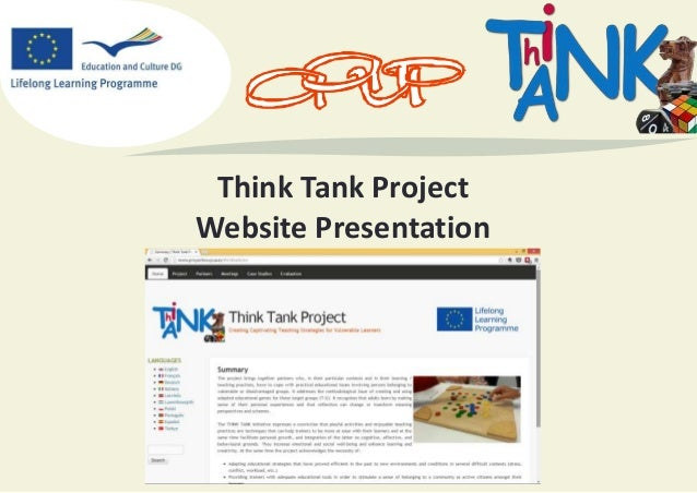 Think Tank Project Website Presentation