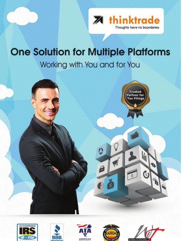 lhinktrade  Thoughts have no boundaries  One Solution for Multiple Platforms Working with You and for You