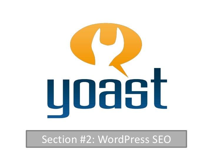 Section #2: WordPress SEO