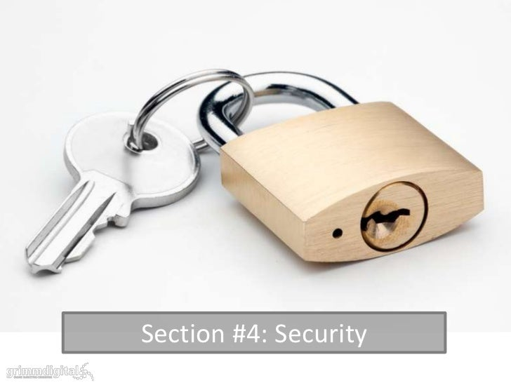 Section #4: Security