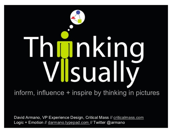 inform, influence + inspire by thinking in pictures   David Armano, VP Experience Design, Critical Mass // criticalmass.co...