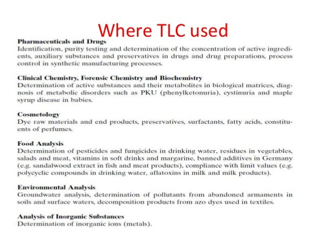 tlc full lab report Lab partner_____ lab section_____ lab report for paper chromatography data, observations, calculations and lab report for paper chromatography author.