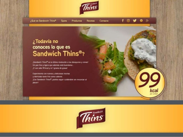 Sandwich Thins website for leading multinational brand BIMBO Airtouch developed the website sandwichthins.es for multinati...