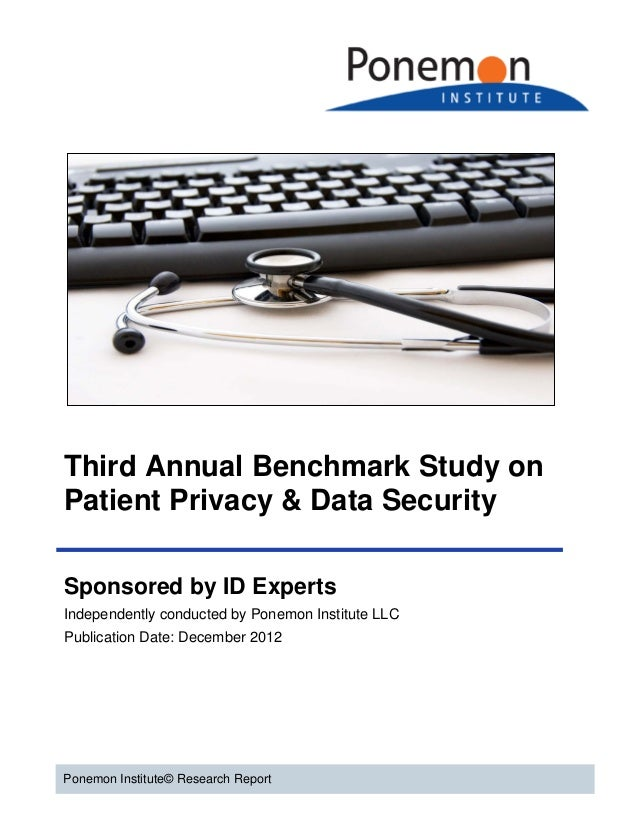 Third Annual Benchmark Study on Patient Privacy & Data Security Sponsored by ID Experts Independently conducted by Ponemon...