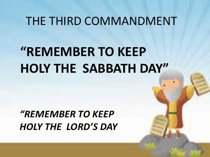 how to teach the third commandment