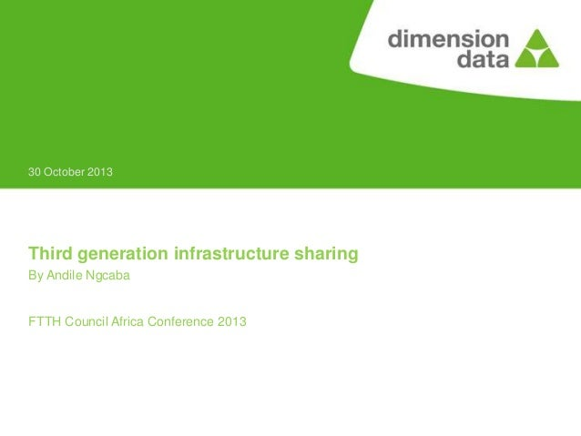 30 October 2013  Third generation infrastructure sharing By Andile Ngcaba  FTTH Council Africa Conference 2013