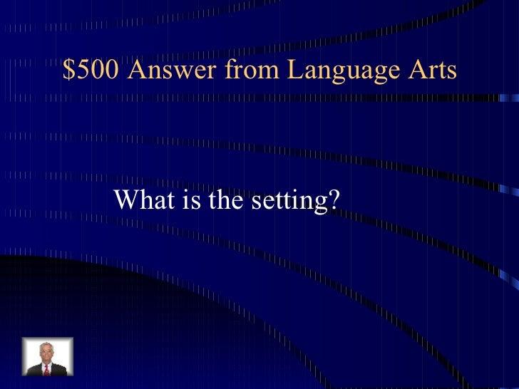 Third Grade Jeopardy on Third Grade Language Arts Jeopardy